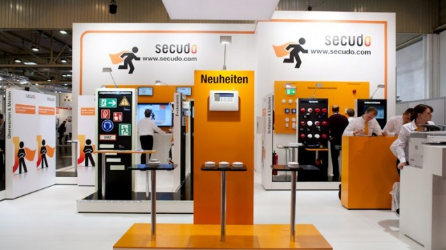 Messestand für secudo